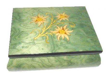 Green Inlaid Musical Jewellery Box MAD415ELGRL